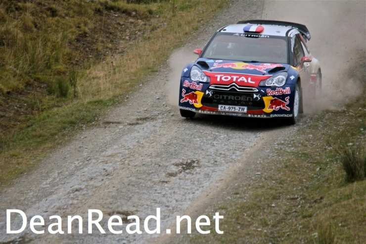 Sebastian Loeb at WRC Wales Rally GB 2012