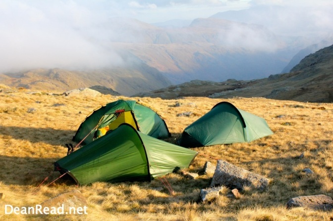 Wild Camping in the Lake District at Esk Hause