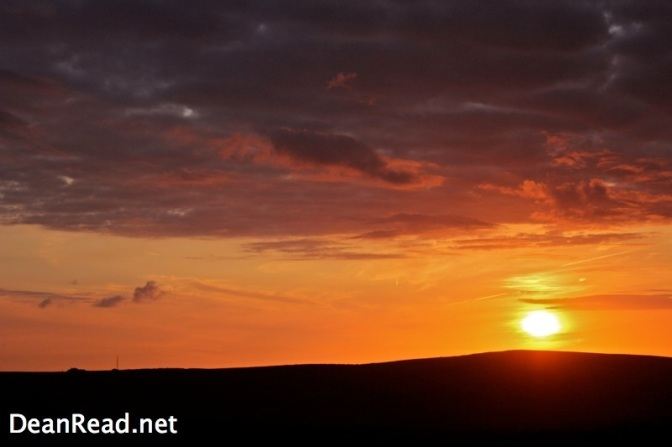 Sunset from Axe Edge moor in the Peak District