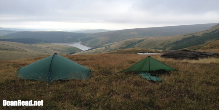 Wild Country Zephyros 1, Terra Nova Discovery Bivy & Competition 1 Tarp on Kinder Scout