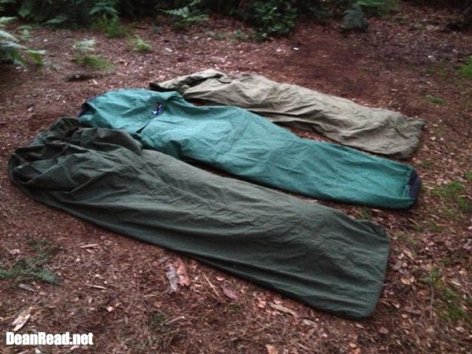 Terra Nova Discovery Bivi between 2 Army Gore-Tex Bags