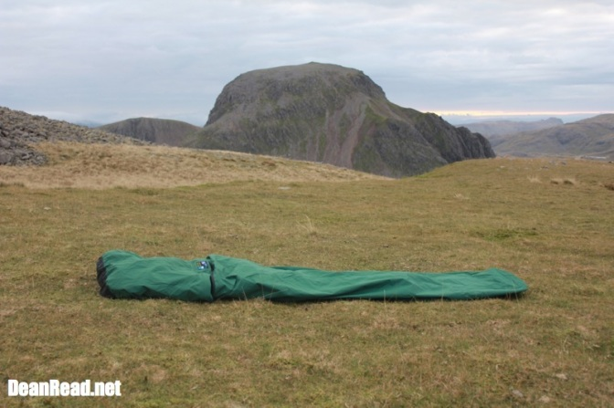Terra Nova Discovery Bivi on Kirk Fell with Great Gable in the background