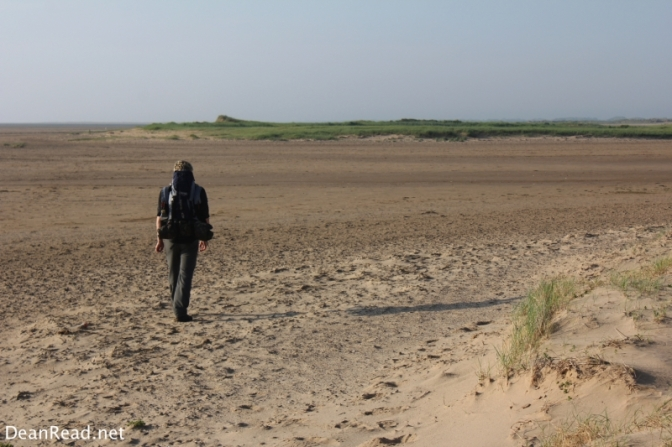 Making our way back to the car over Saltfleet Beach towards Saltfleet Haven