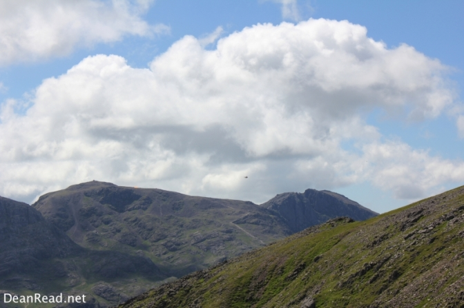 A Sea King Helicopter above the Scafells
