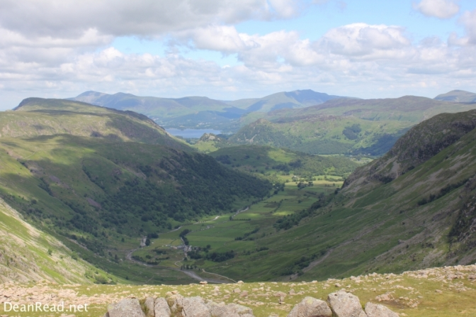 The view down Borrowdale from Seathwaite Fell