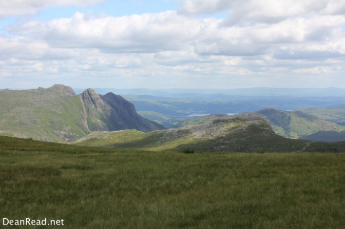 The Langdale Valley from Esk Haus