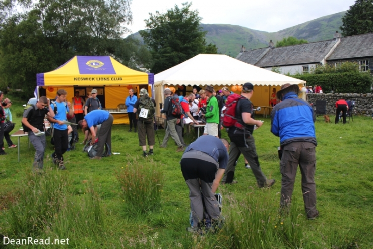 Registering for the Challenge in Rosthwaite