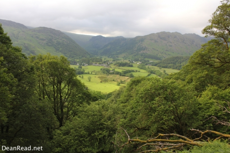 Borrowdale from the climb up to Castle Crag