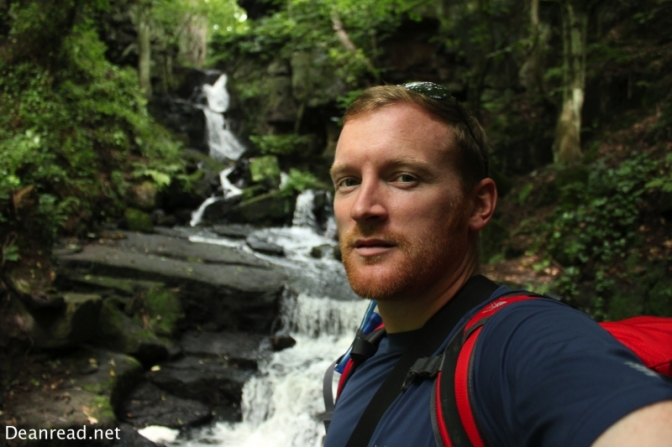 My ugly mug at the Waterfalls in Lumsdale