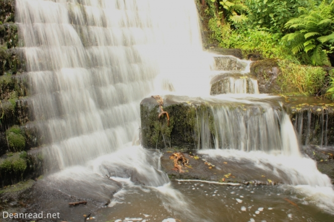 The millpond weir in Lumsdale