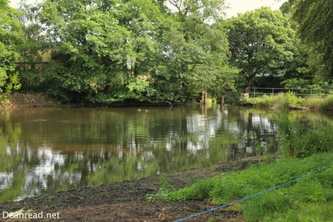 The millpond at Lumsdale