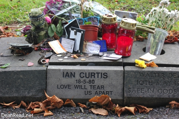 Ian Curtis' Memorial Stone at Macclesfield Cemetery