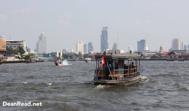 Crossing the Chao Phraya River to Wat Arun in Bangkok