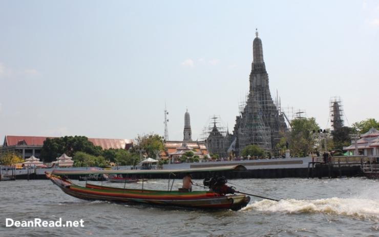 Crossing the Chao Phraya River to Wat Arun in Bangkok