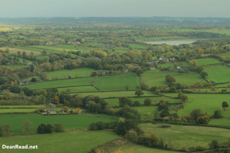 Looking down in to the Amber Valley during my walk to camp