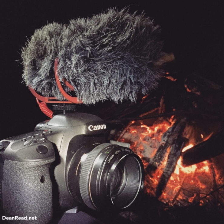 Canon 7D with a 50mm F/1.4 and a RODE VideoMic Go with RODE Dead Cat Wind Protector