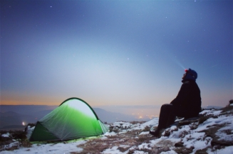 Winter Wild Camping in the Peak District