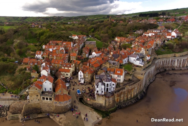 Robin Hood's Bay taken with the DJI Phantom 4